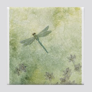 StephanieAM Dragonfly Tile Coaster